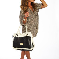Black Quilted Canvas Bag - Furor Moda - Tops - Dresses - Jackets - Vintage