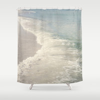 Turquoise Seas Shower Curtain by CMcDonald