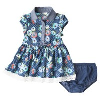Genuine Kids from OshKosh ™ Newborn Girls' Woven Dress - Deep Water