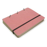 Pink Ring Binder Plain Notebook