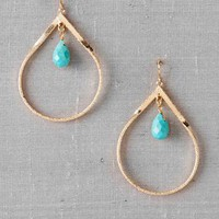 LAKESIDE FRAMED TURQUOISE EARRINGS