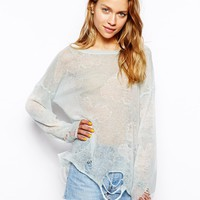 Wildfox White Label Cloudy Sky Lennon Sweater