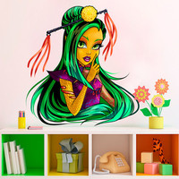 Monster High Decal - Jinafire Long Wall Sticker Printed and Die-Cut Vinyl Apply in any Flat Surface- Jinafire Long Monster High Decor