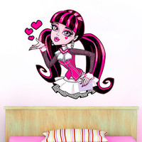 Monster High Sticker - Draculaura Monster High Wall Sticker Printed and Die-Cut Vinyl Apply in any Flat Surface- Monster High Decal