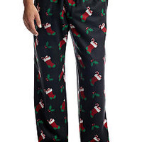 Saddlebred® Holiday Stocking Rolled Fleece Pant