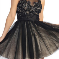 Élysée Illusion Party Dress in Black