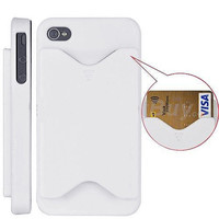 Credit Card Case for Apple iPhone 4 / 4S - White *Clearance Sale