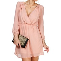 Blush Studded Cuff Tunic