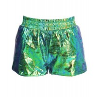ILLUMINATI Emerald Hologram Running Shorts