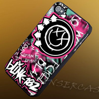 Blink 182 Band Logo - iPhone 4/4s/5c/5s/5 Case - Samsung Galaxy S3/S4 Case - Black or White
