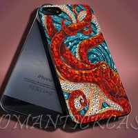 Mosaic Octopus Art - iPhone 4/4s/5c/5s/5 Case - Samsung Galaxy S3/S4 Case - Black or White