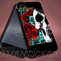 Deftones Vintage Flowers Logo - iPhone 4/4s/5c/5s/5 Case - Samsung Galaxy S3/S4 Case - Black or White
