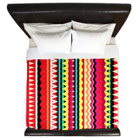 Summer Aztec King Duvet Cover - Forever Young - Ornaart Design