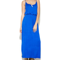 Blouson Knit Maxi Dress | Wet Seal
