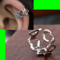 Stringed Hearts Ear Cuffs ( 2, No Piercing)