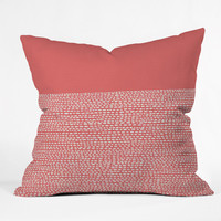 Jacqueline Maldonado Riverside Cayenne Outdoor Throw Pillow
