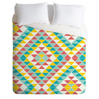 Jacqueline Maldonado Tribal Triangles 2 Duvet Cover