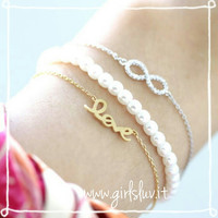 girlsluv.it - infinity bracelet, crystals