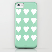 16 Hearts Mint iPhone & iPod Case by Project M