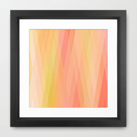 Re-Created Vertices No. 16 Framed Art Print by Robert S. Lee