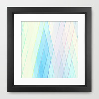 Re-Created Vertices No. 14  Framed Art Print by Robert S. Lee
