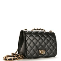 BlackGold Quilted Celeb Bag