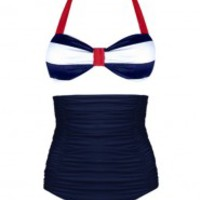 Plumpinup High Waist Suit - Nautical