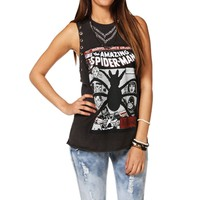 Charcoal Spiderman Tank Top