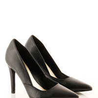Mirta Black Stiletto Shoe at Fashion Union