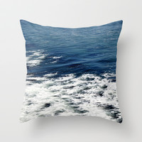 Mystic Blue Sea Throw Pillow by Lisa Argyropoulos