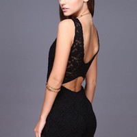 BLACK LACY WRAP ROMPER