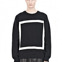 Black And White Box Crewneck Pullover - Alexander Wang