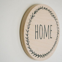 HOME wall mount - wooden decor