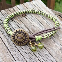 Margaritaville - Cord Bracelet in Lime GreenBohemian Hippie Summer