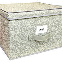 Jumbo Storage Box, Damask