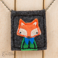 Fleeci Designs 'Little Creatures' Eco Felt Necklace | E for Ethel