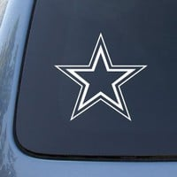 DALLAS COWBOYS - Football Vinyl Car Decal Sticker #1747 | Vinyl Color: White