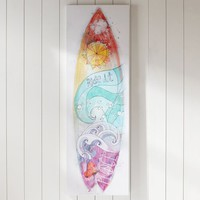 Girls Surfboard Canvas Art