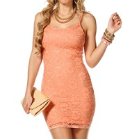 Blush Floral Lace Short dress
