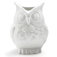 White Ceramic Owl Vase Decorative Vase For Owl Lovers