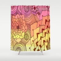 Warm Florals Shower Curtain by DuckyB (Brandi)