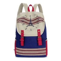 Eiffel Tower Rucksack Backpack Book Travel Computer Shoulder Bag
