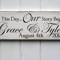 On This Day Personalized Wedding Sign