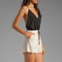6 SHORE ROAD Malay Lace Romper in Night