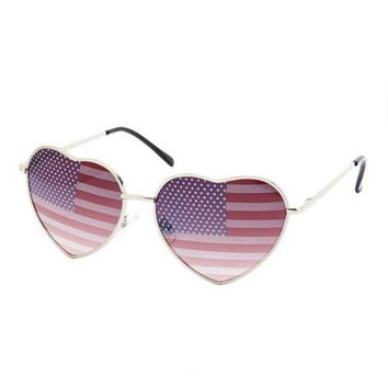 AMERICANA LENS HEART-SHAPED SUNGLASSES