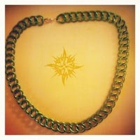 Chainmaille Necklace 3-n-1 half persian