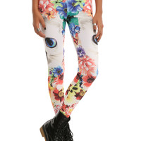 Cat Floral Leggings