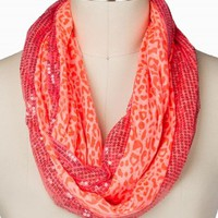 LEOPARD SEQUIN ETERNITY SCARF
