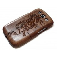 Wooden Samsung Galaxy S3 case - Dragon