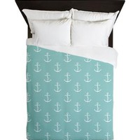 Mint Anchors Queen Duvet> Duvets> Heartlocked